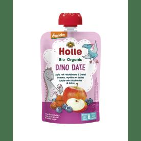 Demeter Dino Date - Pouchy Apfel mit Heidelbeere & Dattel, ab dem 6. Monat (100g)