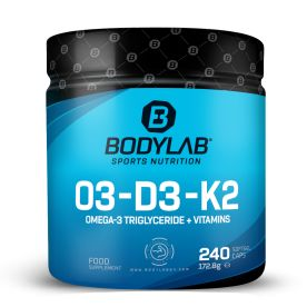 O3-D3-K2 (Omega-3 Triglycerid + Vitamine) (240 Kapseln)