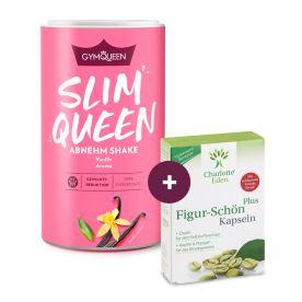 Slim Queen Mahlzeitersatz Shake (420g) + gratis Figur-Schön Plus (30 Kapseln)