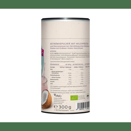 Bio Protein Shake Erdbeere-Kokos (300g)