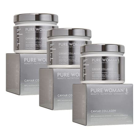 3 x Caviar Collagen Pulver (3x300g)