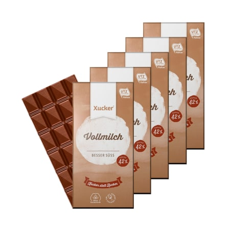 5 x Xylit-Vollmilchschokolade (5x100g)