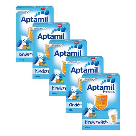 爱他美婴幼儿配方奶粉1+段600克, 5盒装 5x Aptamil Pronutra 1+ Milchpulver (600g)