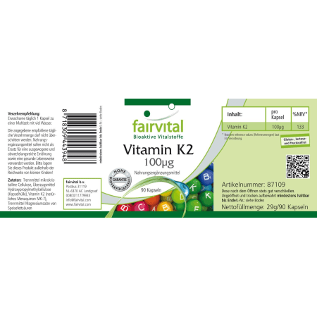 Vitamin K2 (90 Kapseln)