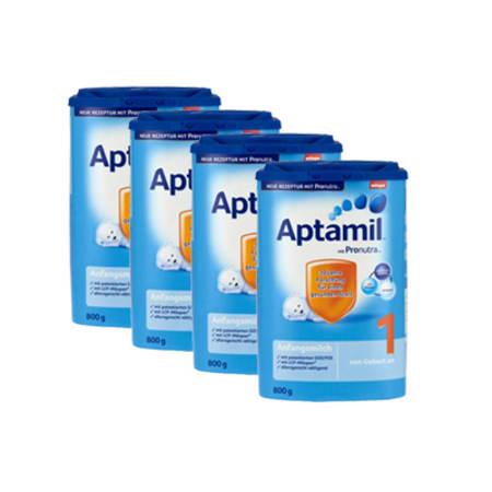 爱他美婴幼儿配方奶粉1段800克, 4盒装 4x Aptamil Pronutra 1 Milchpulver (800g)