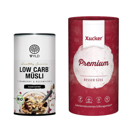 Bio Low Carb Müsli (350g) + Xucker Premium (1000g)
