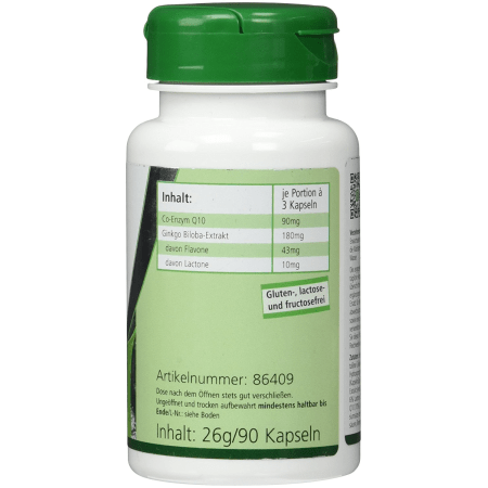 Co-Enzym Q10 + Ginkgo (90 Kapseln)
