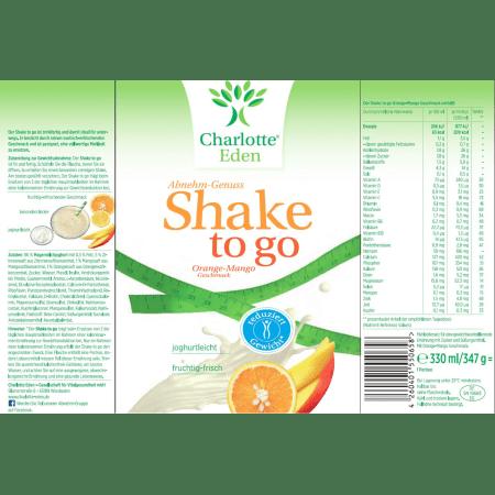 6 x Shake to Go Orange-Mango (6x330ml)