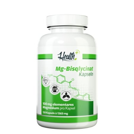 Health+ Magnesium-Bisqlycinat (120 Kapseln)