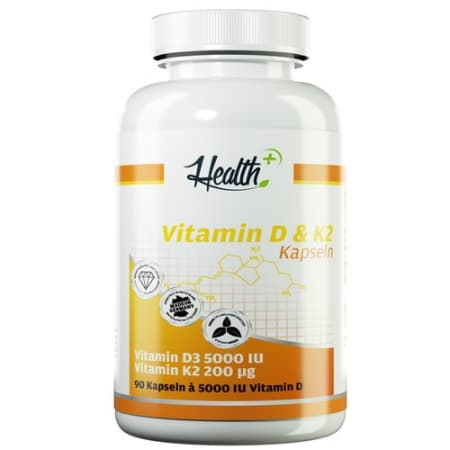 Health+ Vitamin D & K2 (90 Kapseln)