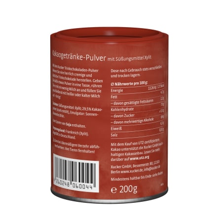 Xucker Hot Chocolate Trink-Schokolade (200g)