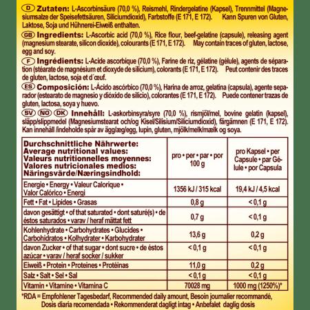 Vitamin C 1000 (100 Kapseln)