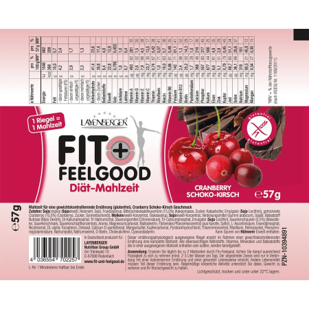 Fit+Feelgood Riegel (15x57g)