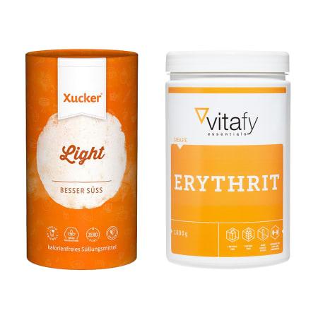 1 x Xucker light europ. Erythrit (1000g) + 1 x Vitafy Essentials Erythrit (1000g)