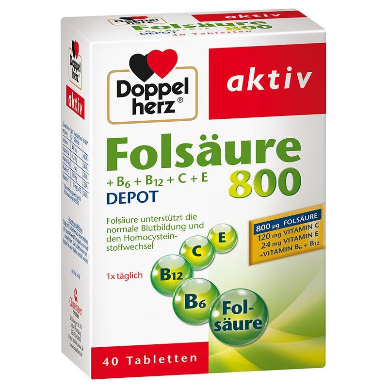 Folsäure 800 Depot (40 Tabletten)