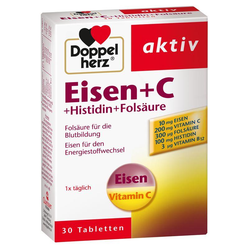 Eisen + C + Histidin + Folsäure (30 Tabletten)