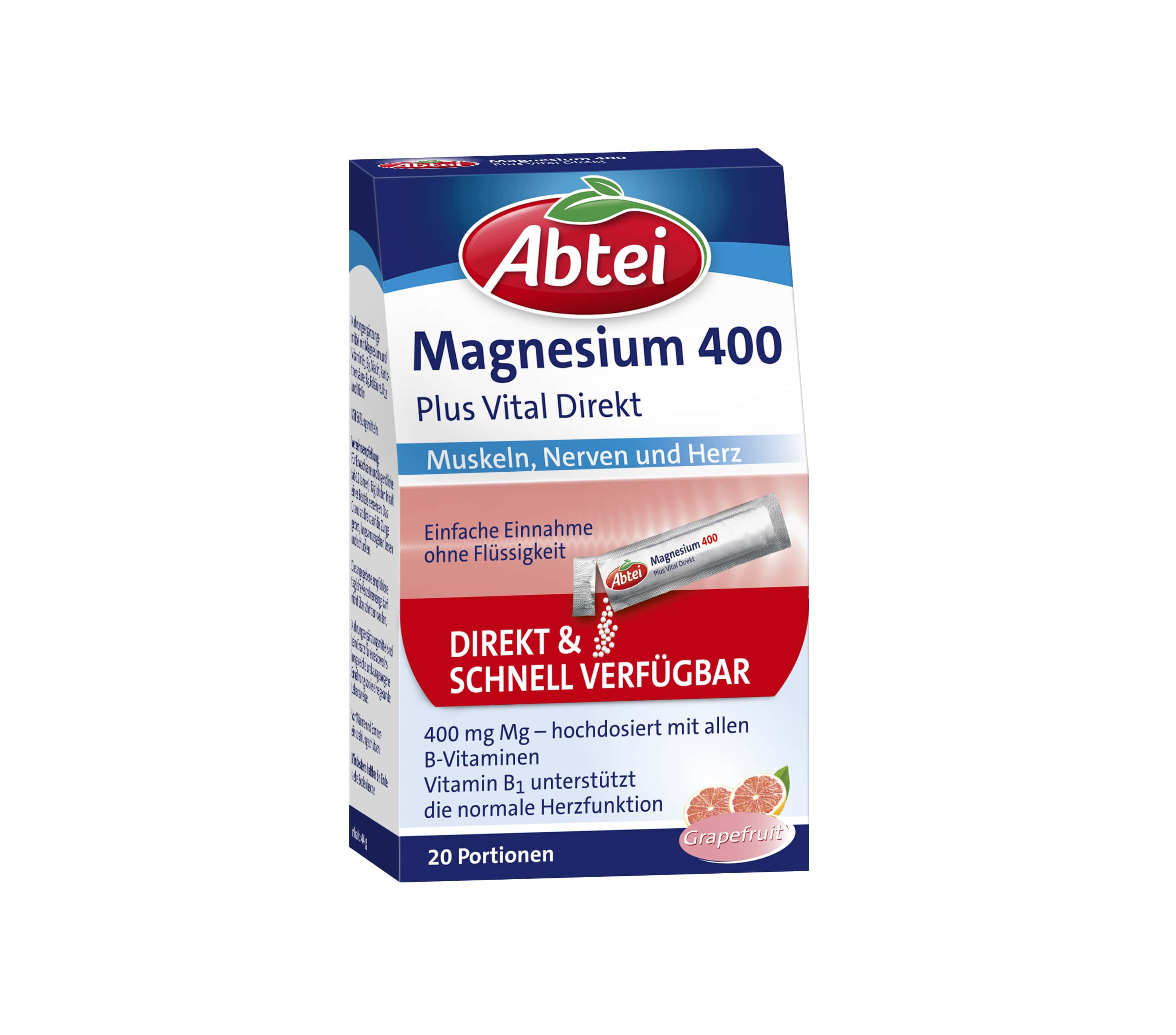 Magnesium 400 + Vitamin B-Komplex Direktgranulat (20 Portionen)
