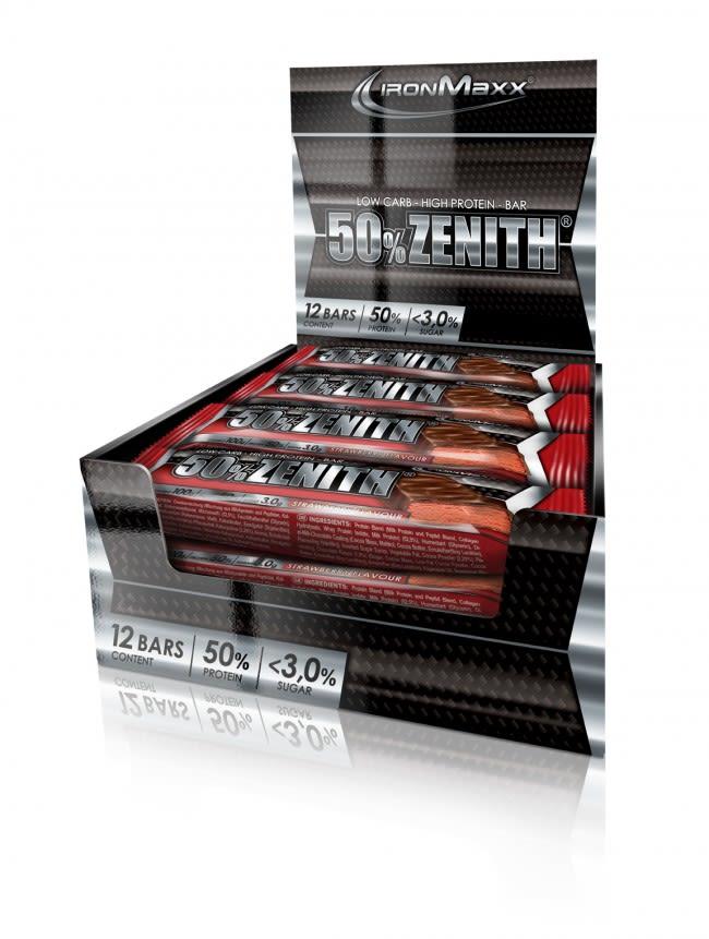50% Zenith Protein Riegel - 12x100g - Erdnuss