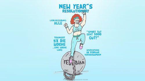 Neues aus dem Gym - unübersehbare Typen im Fitnessstudio 2018 - die New Years Resolutionary
