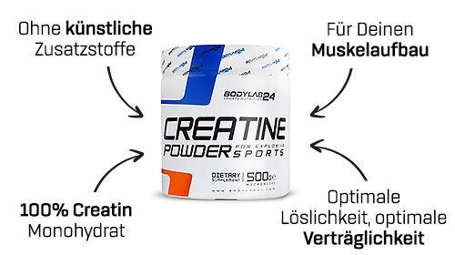 Creatine Powder von Bodylab24 – Geheimwaffe für den Muskelaufbau!