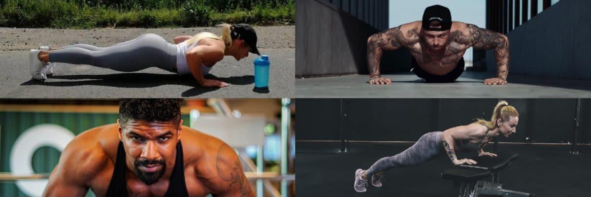 Push Up 4 Athleten
