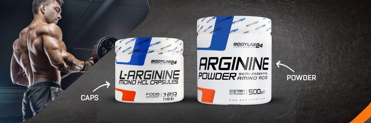 Arginin - Kapseln und Pulver