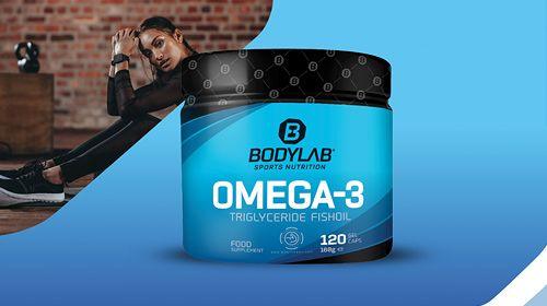 Omega-3 1000mg Triglyceride Kapseln - Neu bei Bodylab24