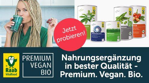 Raab Vitalfood – Pflanzliche Nahrungsergänzung und mehr in bester veganer Bio-Qualität!
