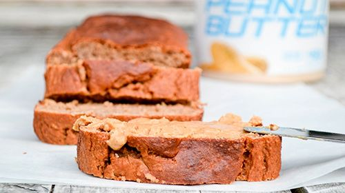 Bananabread met powdered peanutbutter