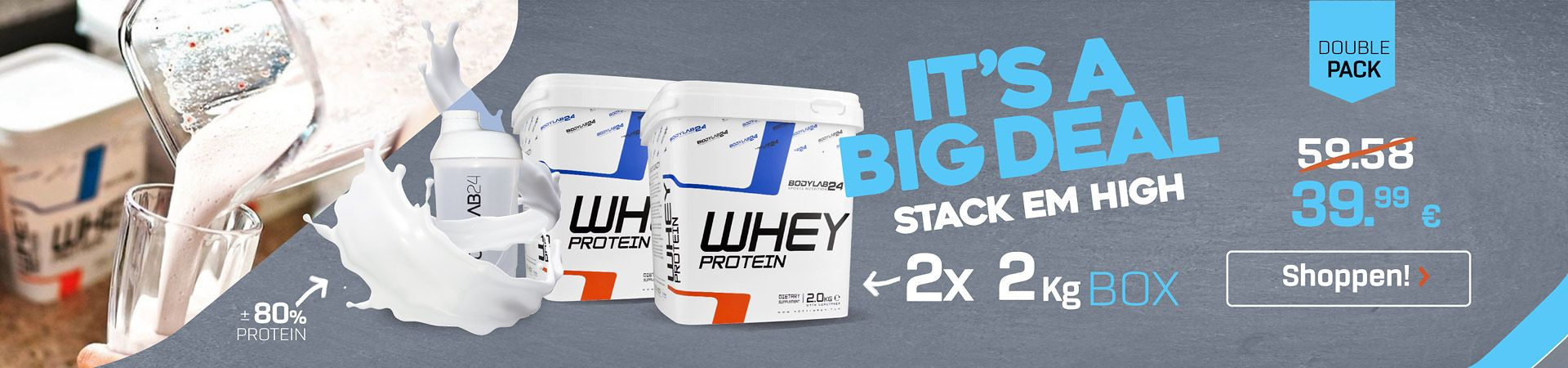 Doublepack Whey Protein - IT's a big DEAL