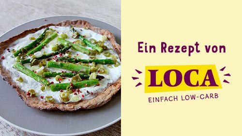 LOCA-leichter Spargel Flammkuchen