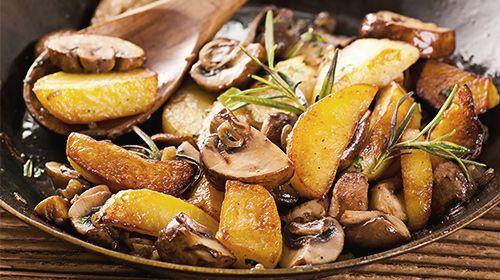 Lauch-Pilz-Pfanne mit Kartoffeln