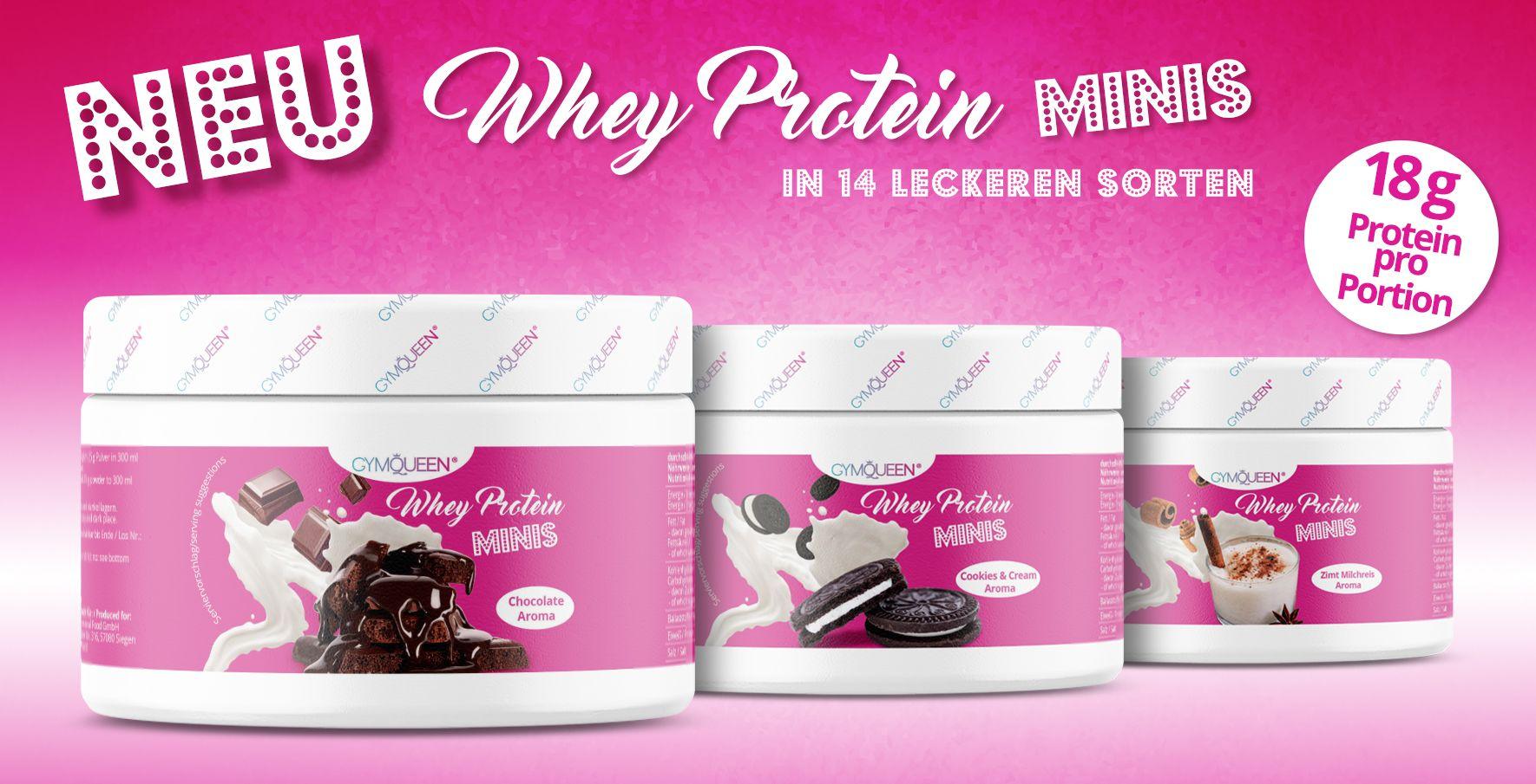 Endlich sind die neuen, leckeren Shakes in vielen verschiedenen Geschmacksrichtungen da. Speziell für Frauen mit 18% Protein pro Portion.