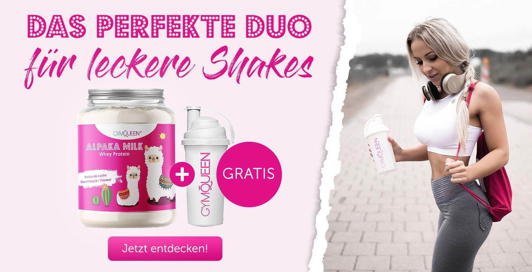 Sichere dir deinen gratis Shaker zu jedem Alpaka Whey!
