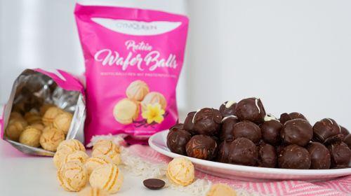 Protein Ostereier mit Schokoladenüberzug