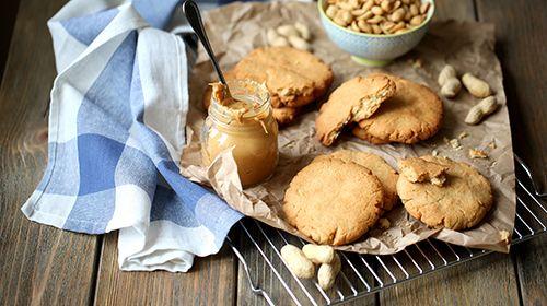 Chia-Erdnuss-Cookies