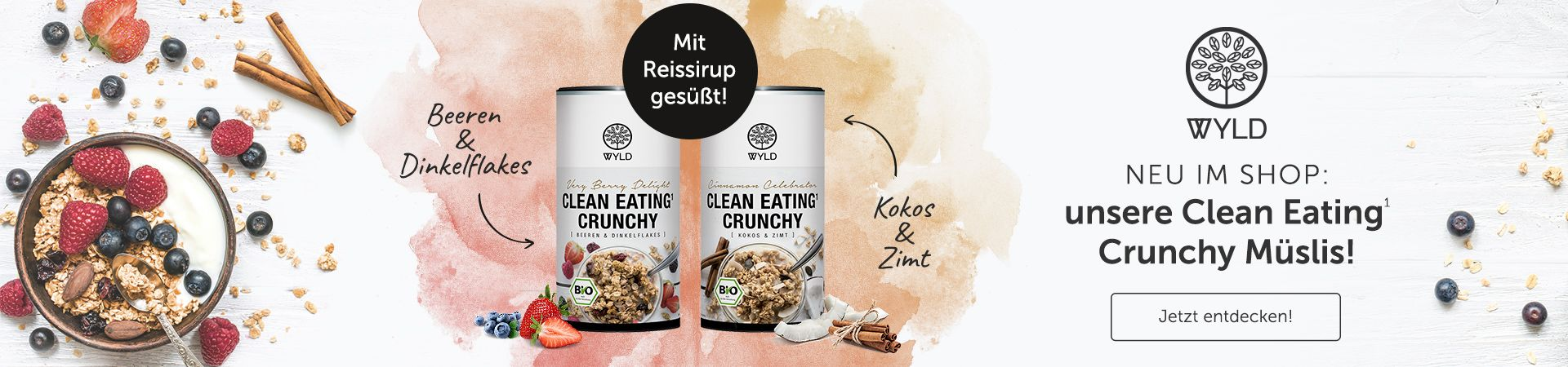 WYLD Launch Clean Eating Crunchy Müslis