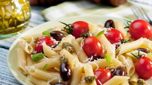 Italienischer Nudelsalat mit kalorienarmen Dressing