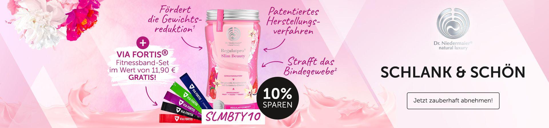 Dr. Niedermaier Slim Beauy Shake + VIA FORTIS Fitnessband Set