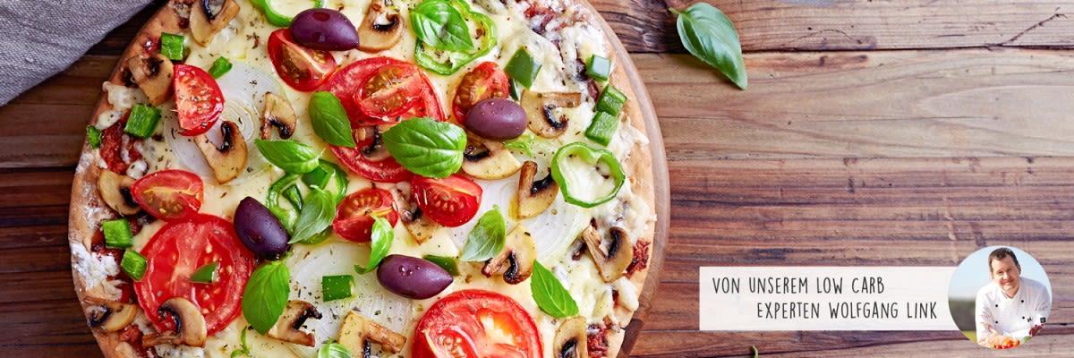Vegetarische Low Carb Pizza