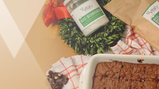 Saftige glutenfreie Schoko-Walnuss-Brownies