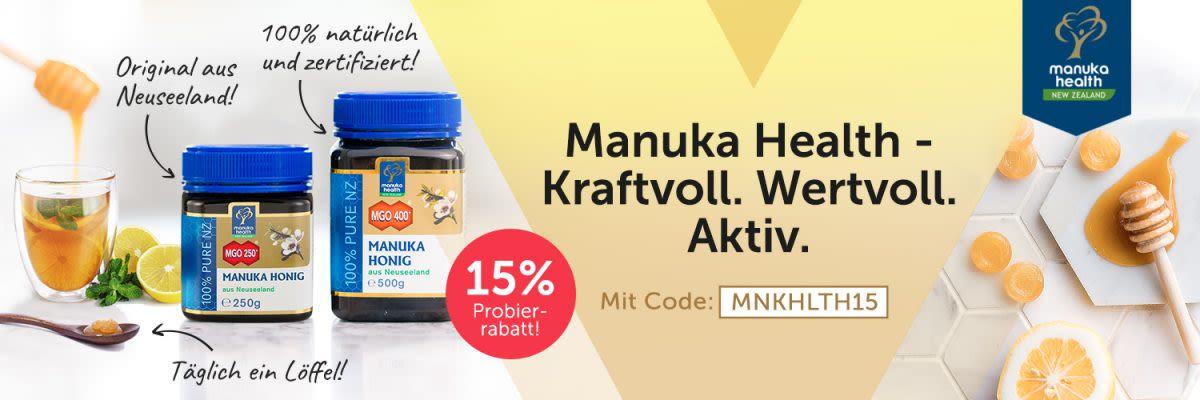 Manuka Health. Manuka Honig mit MGO.
