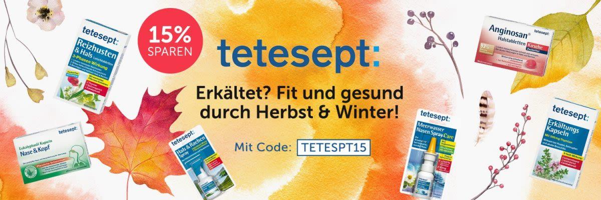tetesept - Erkältet? Fit und gesund durch Herbst & Winter!