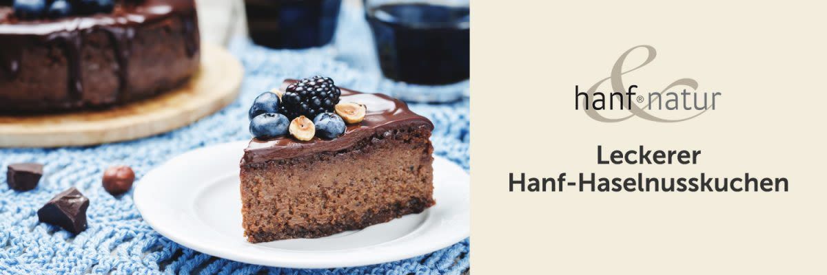 Leckerer Hanf-Haselnusskuchen