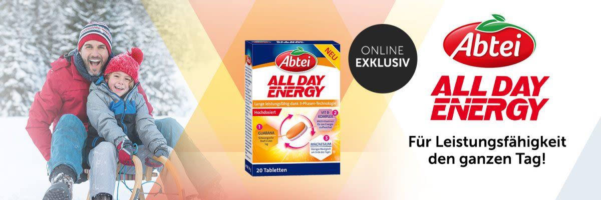Abtei All Day Energy - Für Leistungsfähigkeit den ganzen Tag!