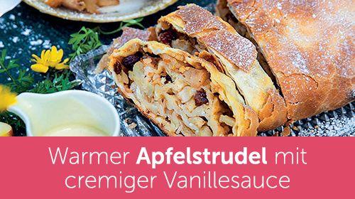 Warmer Apfelstrudel mit Vanillesauce - aus dem Xucker Backbuch