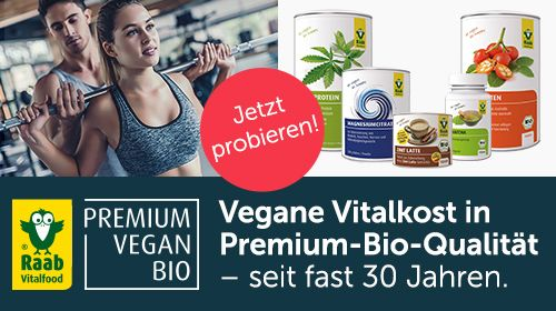 Raab Vitalfood - Premium-Sportnahrung und mehr in bester veganer Bio-Qualität!