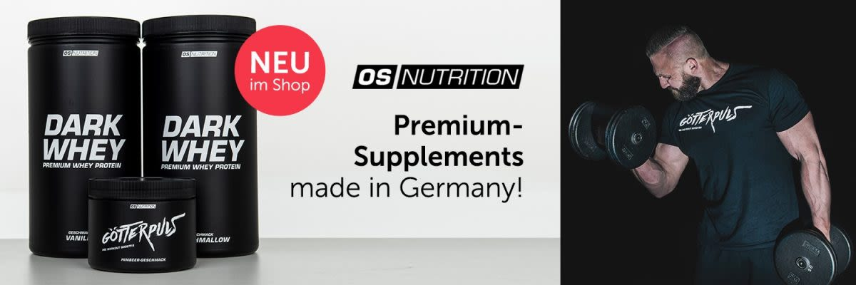 OS Nutrition Premium Supplements. Made in Germany
