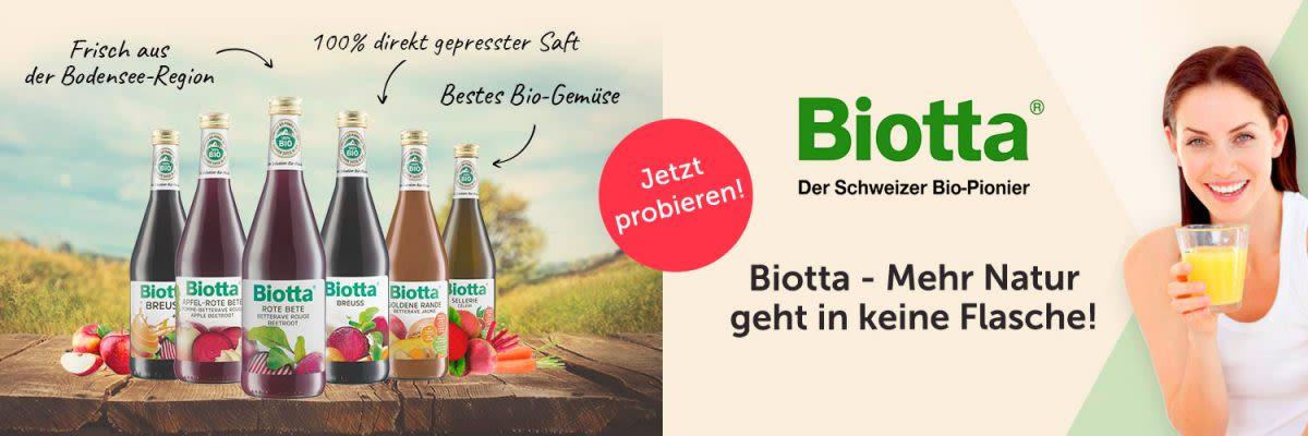 Biotta - Mehr Natur geht in keine Flasche!