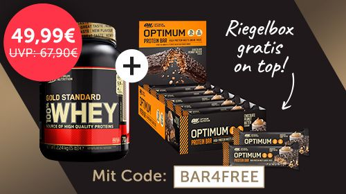Launchknaller: Whey Gold Standard 2273g + 10 ON Riegel GRATIS on top!